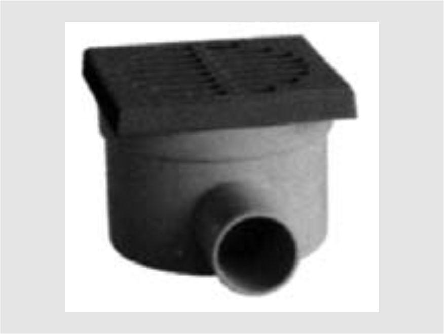 chiusino sifonato scarico laterale pp coperchio inox - lamplast