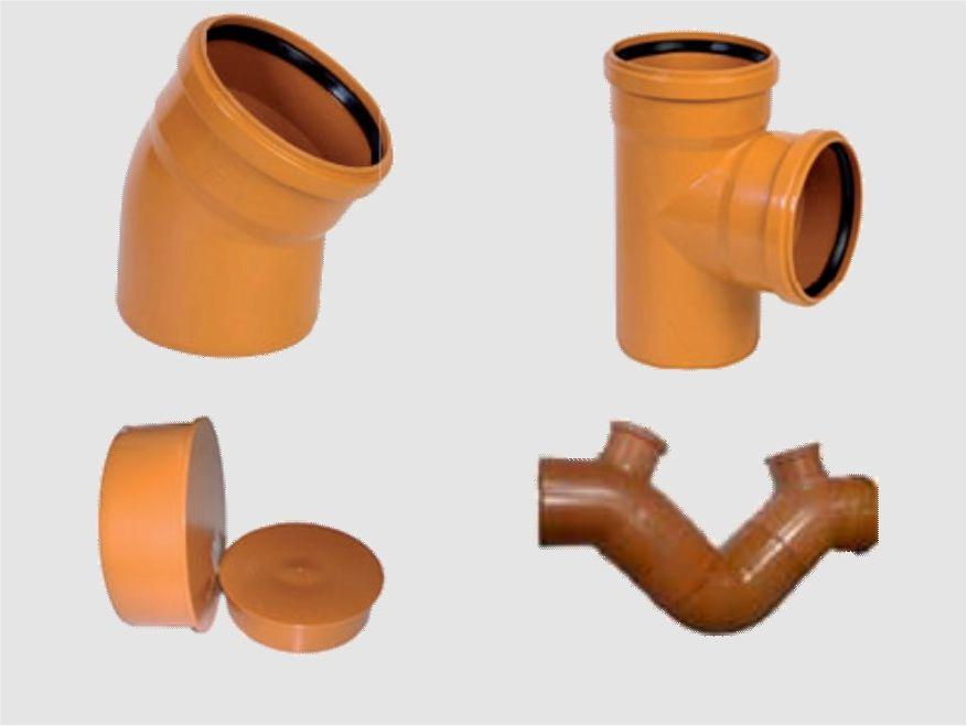 RACCORDI E ACCESSORI PER TUBI PVC FOGNATURE - LAMPLAST
