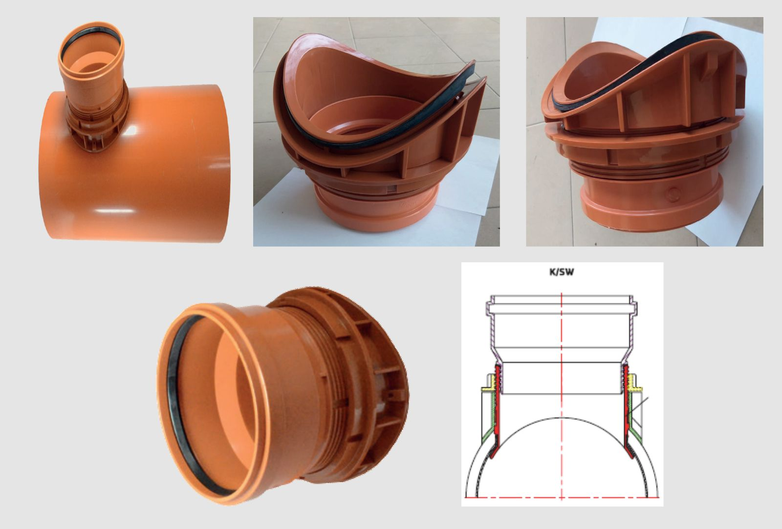 GRAPPE DERIVAZIONE TUBI LISCI - LAMPLAST