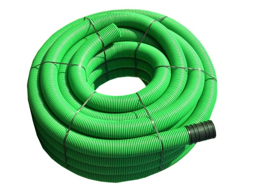 tubo corrugato verde 2