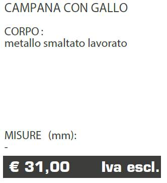 CAMPANA CON GALLO - FERMO - MARCHE - LAMPLAST - LIST2021
