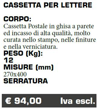 CASSETTA LETTERE - FERMO - MARCHE - LAMPLAST - LIST2021