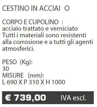 CESTINO A008 - MARCHE - LAMPLAST - LIST2021