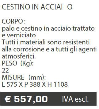 CESTINO A015 - MARCHE - LAMPLAST - LIST2021