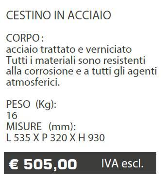 CESTINO A016 - MARCHE - LAMPLAST - LIST2021