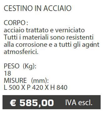 CESTINO A017 - MARCHE - LAMPLAST - LIST2021