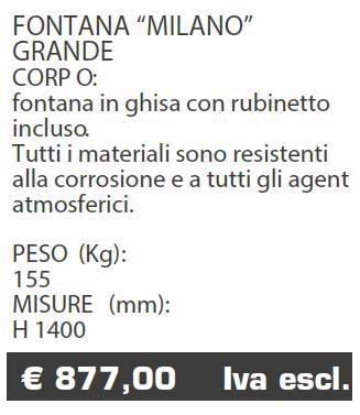 FONTANA MILANO G - MARCHE - LAMPLAST - LIST2021