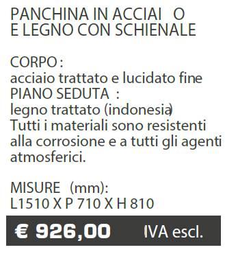 PANCHINA B034 - MARCHE - LAMPLAST - LIST2021