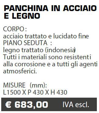 PANCHINA B055 - MARCHE - LAMPLAST - LIST2021