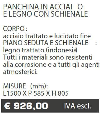PANCHINA B055B MARCHE - LAMPLAST - LIST2021