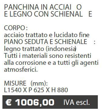 PANCHINA B071 - MARCHE - LAMPLAST - LIST2021
