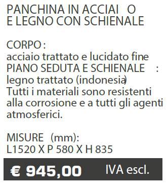 PANCHINE B025 -MARCHE - LAMPLAST - LIST2021