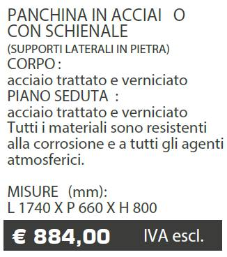 PANCHINE B038 - MARCHE - LAMPLAST - LIST2021