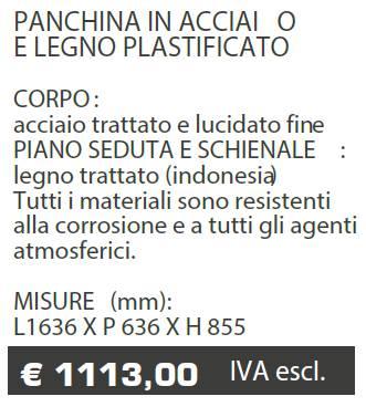 PANCHINE B079 - MARCHE - LAMPLAST - LIST2021