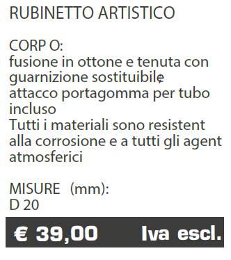 RUBINETTO ART - MARCHE - LAMPLAST - LIST2021