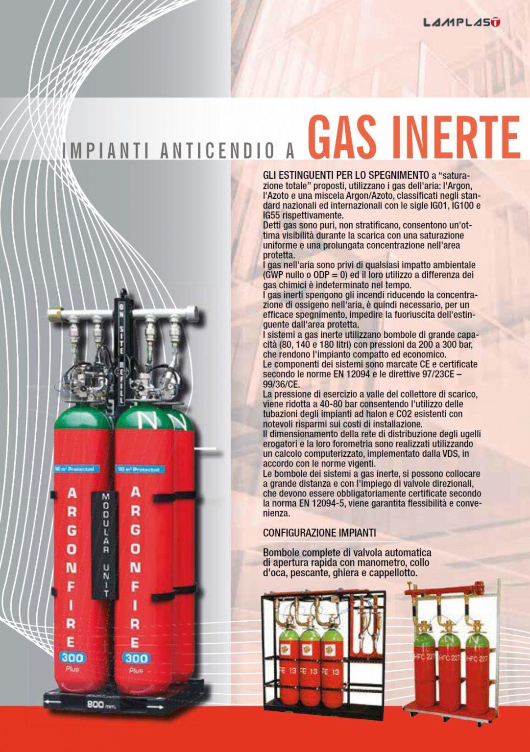 ANTINCENDIO GAS INERTE - LAMPLAST - FERMO - MARCHE - R2104