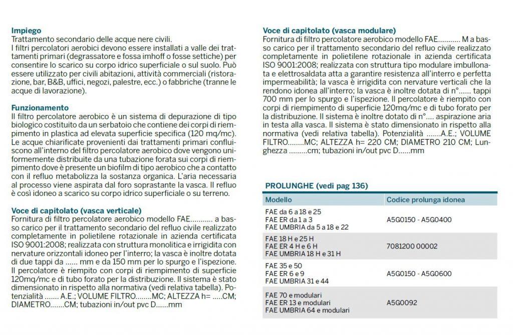 FILTRO PERC AER - NOTE TECNICHE - LAMPLAST - FERMO - MARCHE - R2104