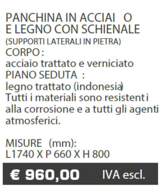 PANCHINA B039 - ARREDO URBANO - LAMPLAST - FERMO - MARCHE - LIST2104